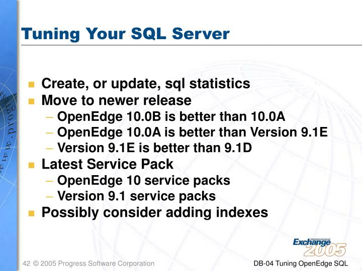 Tuning Your SQL Server