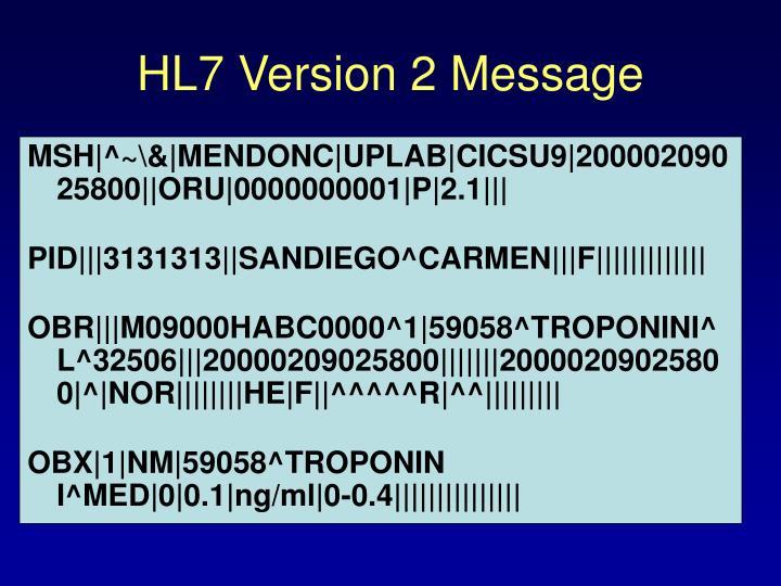 HL7 Version 2 Message
