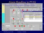 alarm handling in pvss