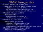 st mo prototype plans