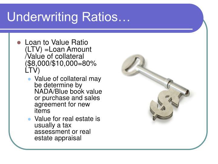 Underwriting Ratios…