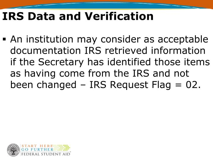IRS Data and Verification