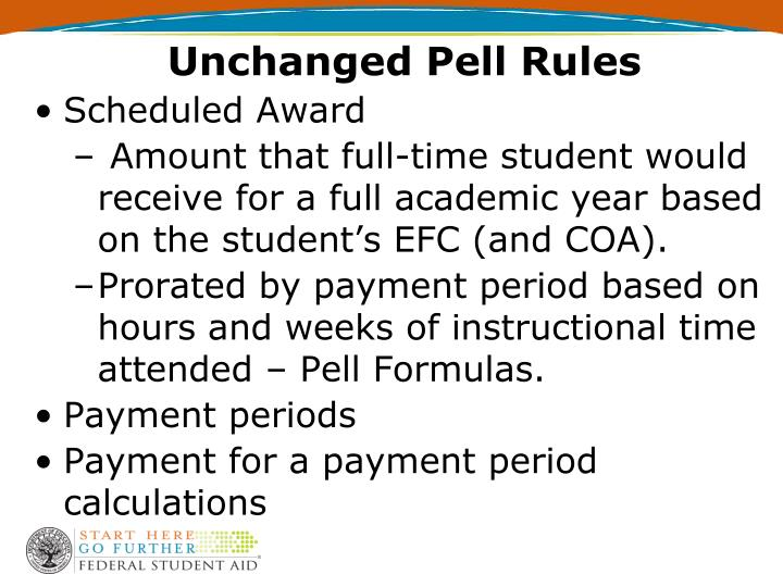 Unchanged Pell Rules