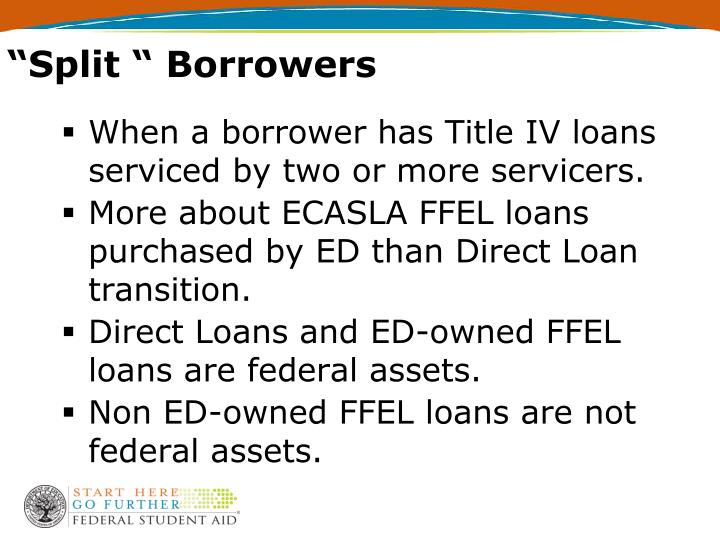 """Split "" Borrowers"