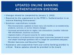 updated online banking authentication systems