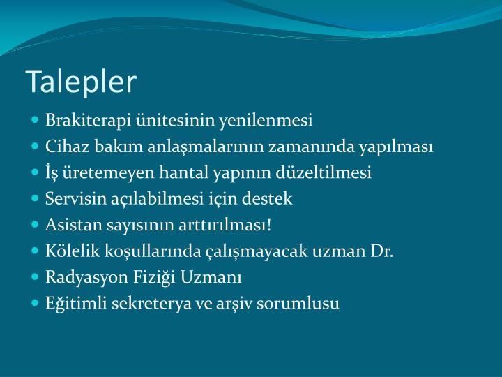 Talepler