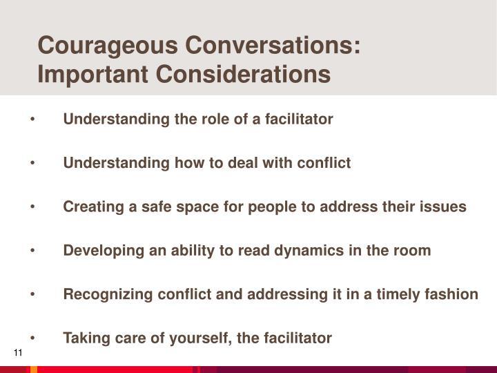 Courageous Conversations: