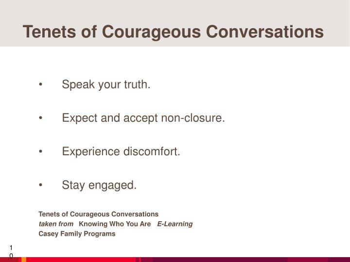 Tenets of Courageous Conversations