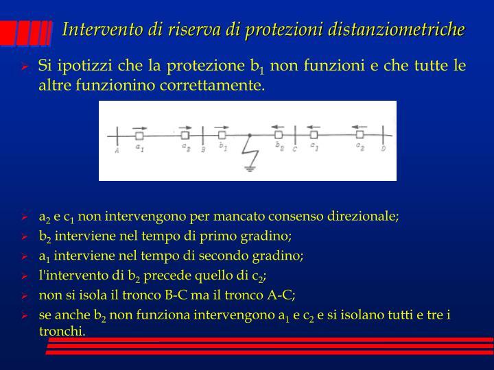Intervento di riserva di protezioni distanziometriche