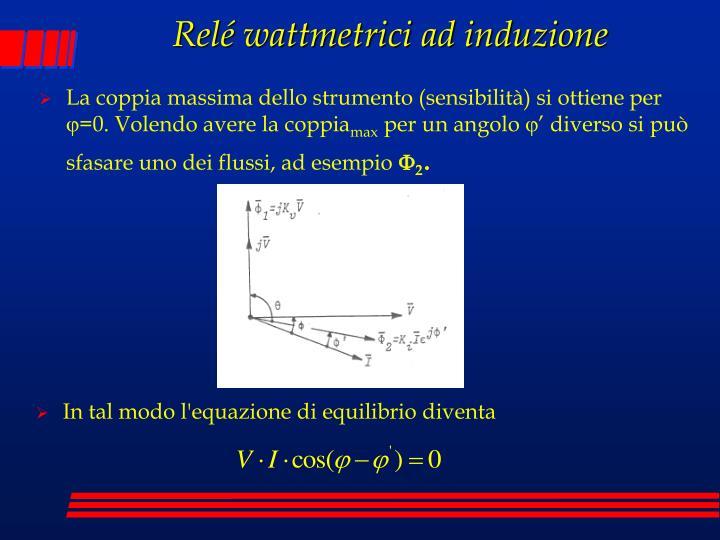 Relé wattmetrici ad induzione