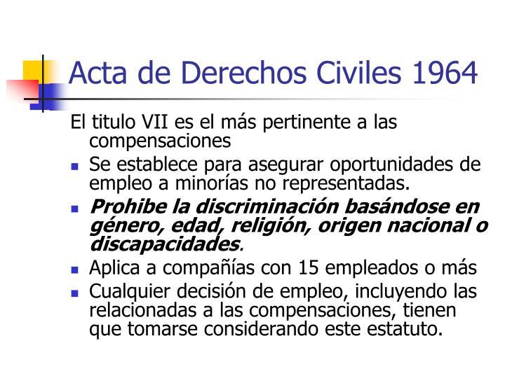 Acta de Derechos Civiles 1964