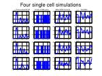 four single cell simulations