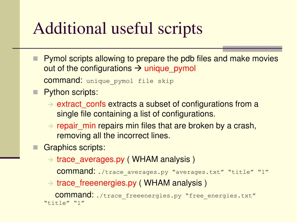 Useful Scripts