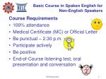 basic course in spoken english for non english speakers