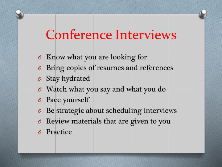 Conference Interviews