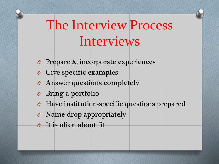 The Interview Process