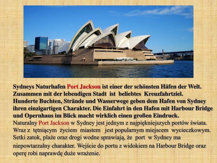 Sydneys Naturhafen