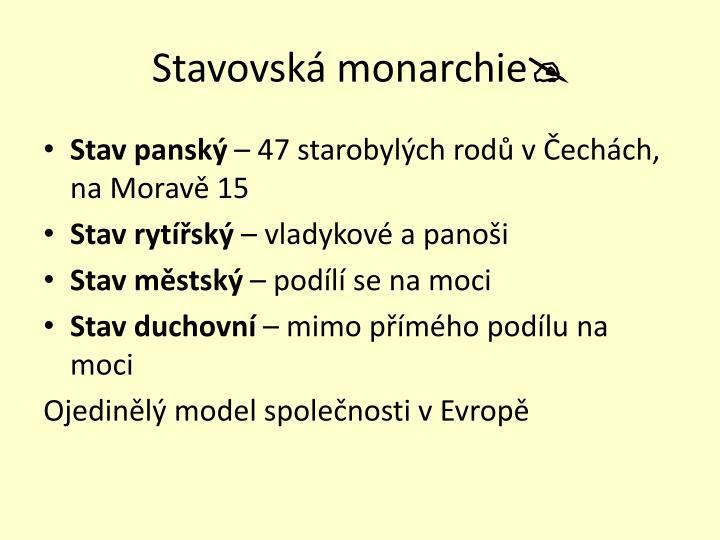 Stavovská monarchie