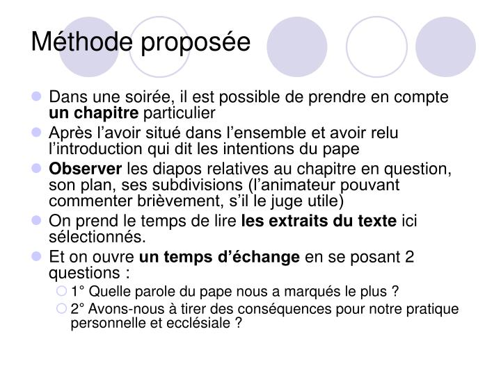 Méthode proposée