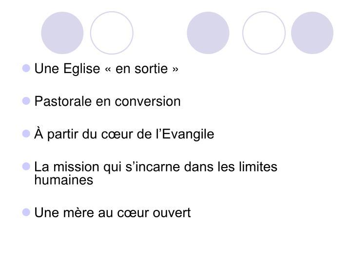 Une Eglise «en sortie»