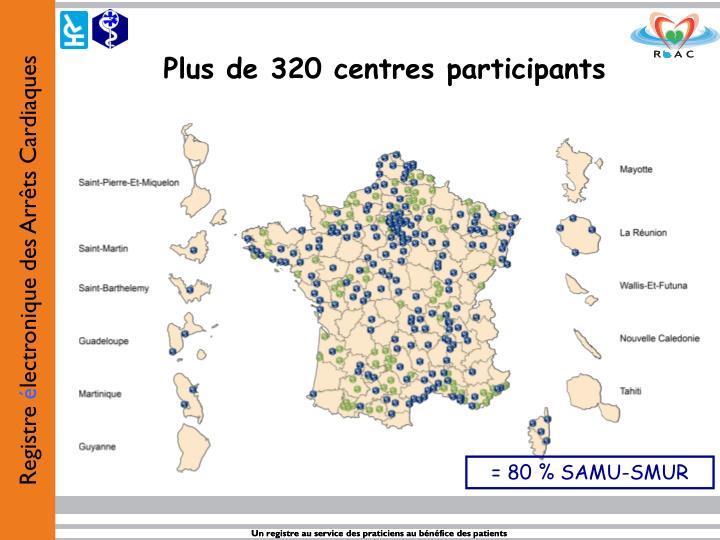 Centres participants au 01/02/2014