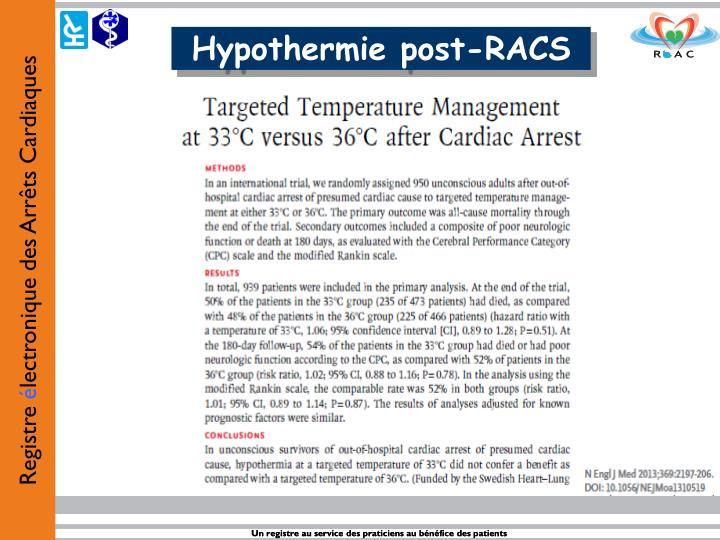 Hypothermie post-RACS