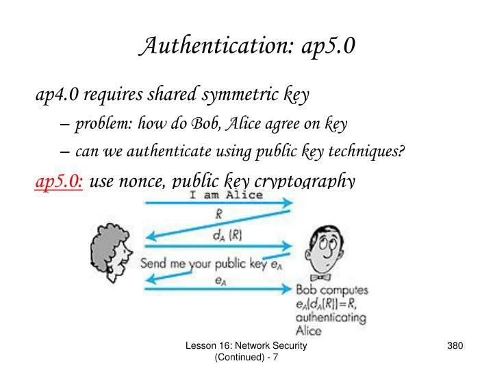 Authentication: ap5.0
