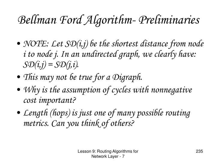 Bellman Ford Algorithm- Preliminaries