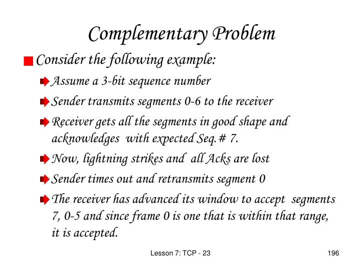 Complementary Problem