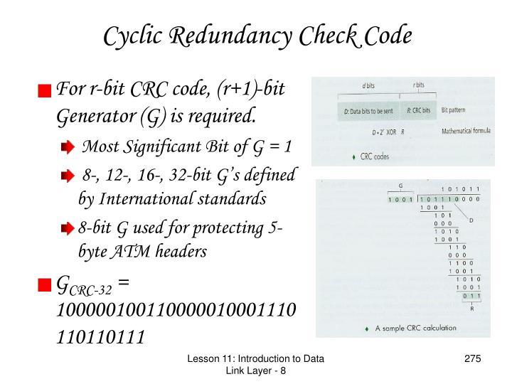 Cyclic Redundancy Check Code
