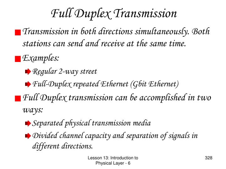 Full Duplex Transmission