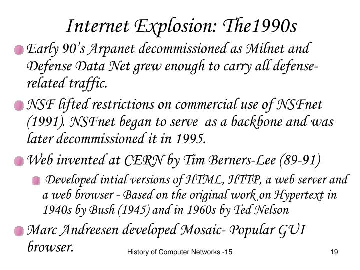 Internet Explosion: The1990s