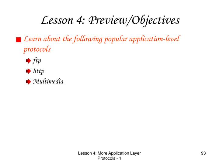 Learn about the following popular application-level protocols