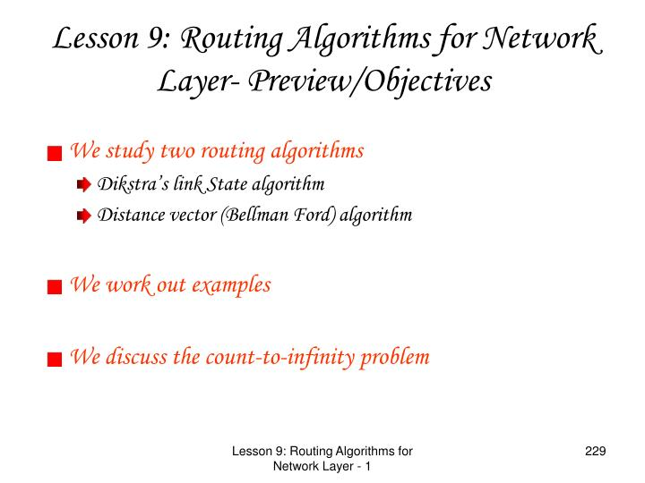 We study two routing algorithms