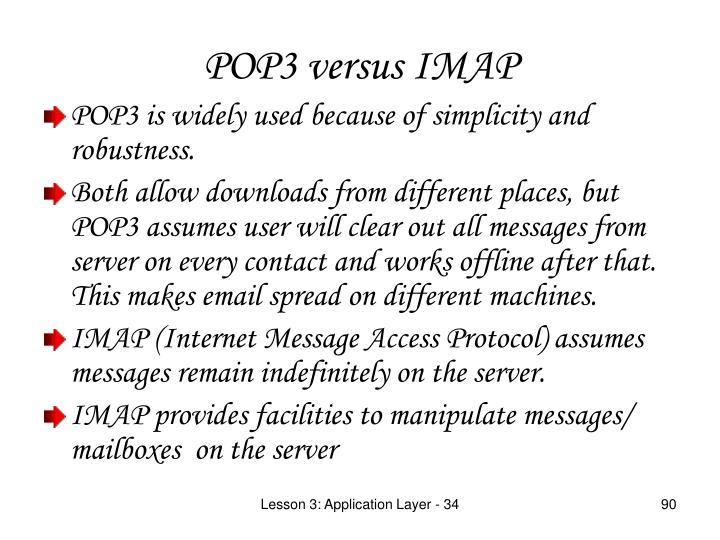 POP3 versus IMAP