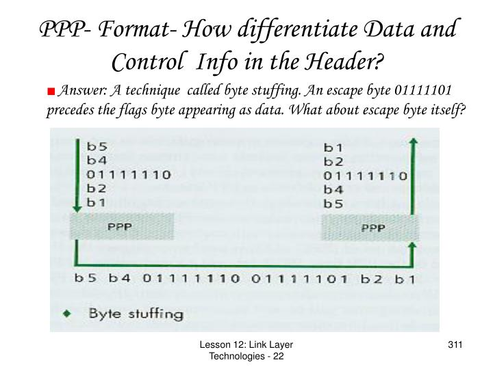 PPP- Format- How differentiate Data and Control  Info in the Header?
