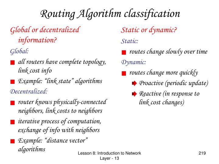 Global or decentralized information?