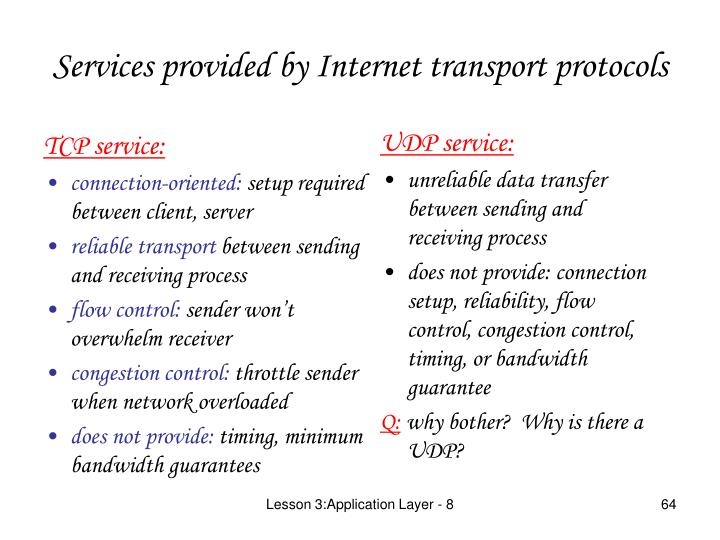 TCP service: