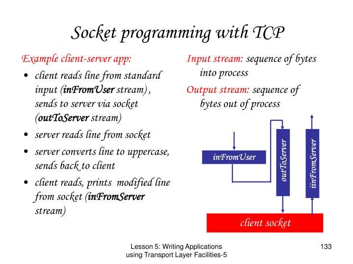 Example client-server app: