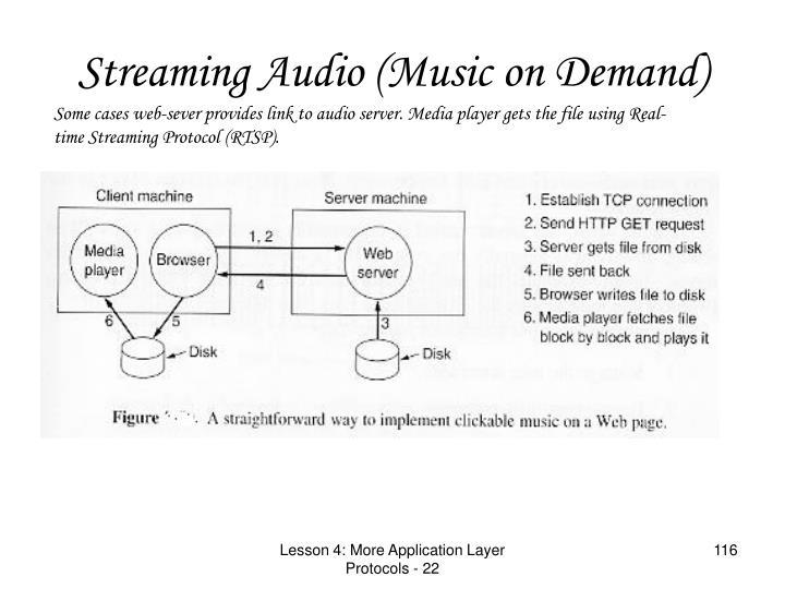 Streaming Audio (Music on Demand)