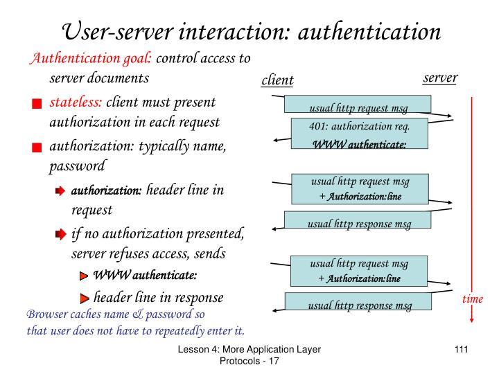 Authentication goal: