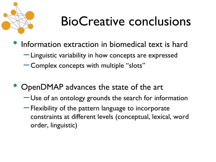 BioCreative conclusions