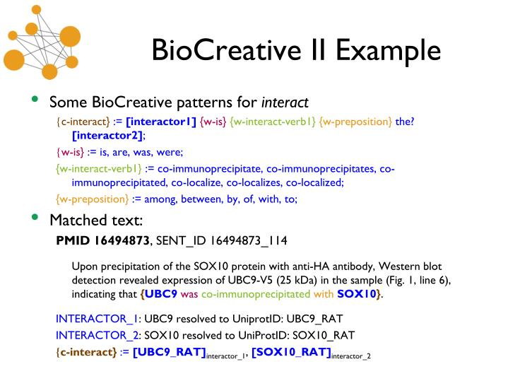 BioCreative II Example