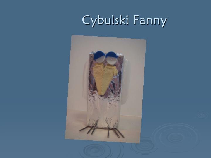 Cybulski Fanny
