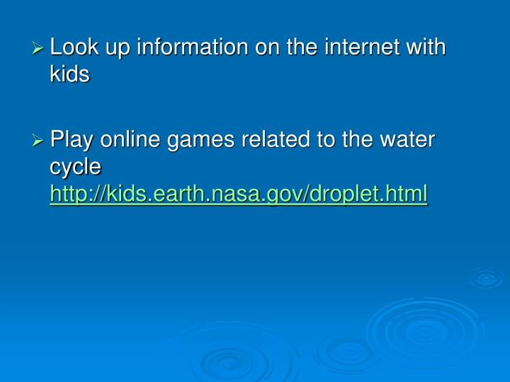 Look up information on the internet with kids