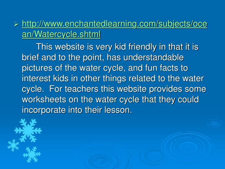 http://www.enchantedlearning.com/subjects/ocean/Watercycle.shtml