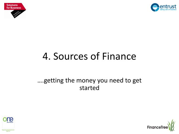 4 sources of finance