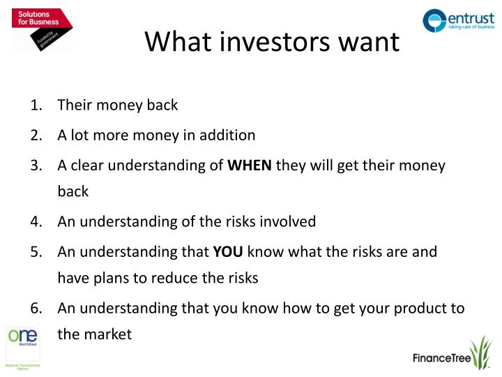 What investors want