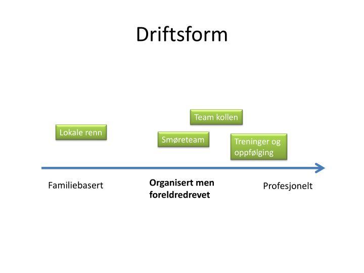 Driftsform