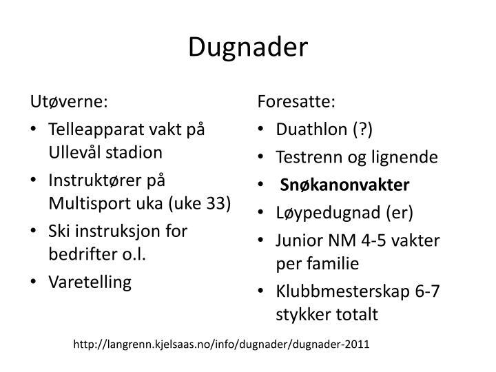 Dugnader